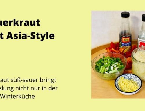 Rezept vegan – Asia Sauerkraut süß-sauer